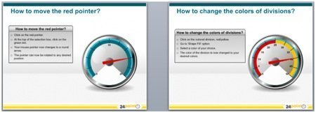 Editable PPT Tachometer Diagrams : Tachometers