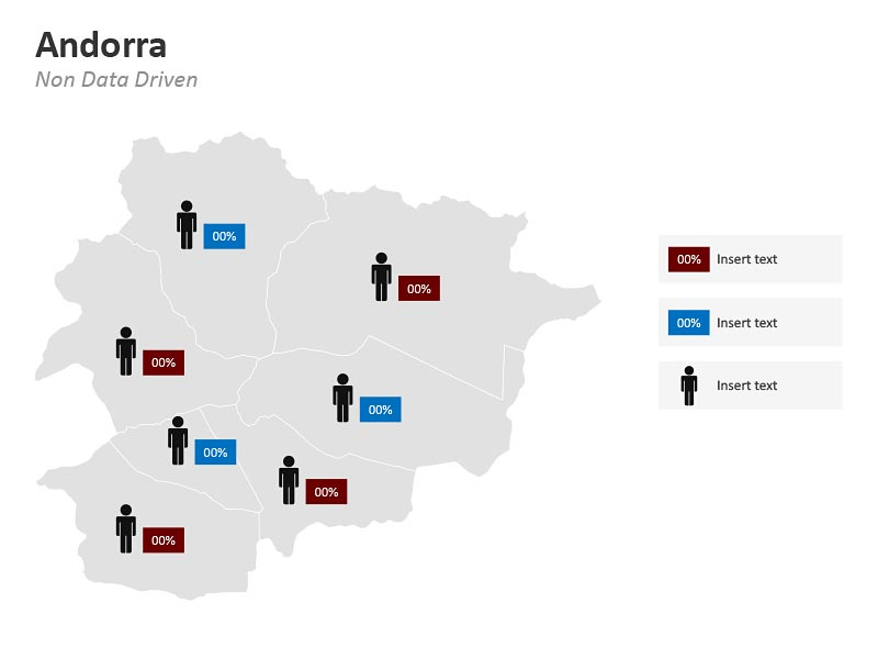 Andorra Demographic Map PPT