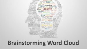 Brainstorming Word Cloud - Editable PowerPoint Presentation