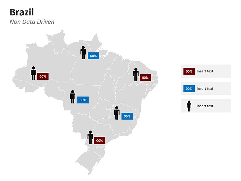 Brazil Population Map PPT - Federative Republic of Brazil (official, English)