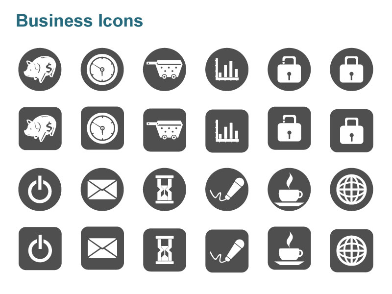 Editable Vector Business Graphics - Money, Time Management, Globe etc.