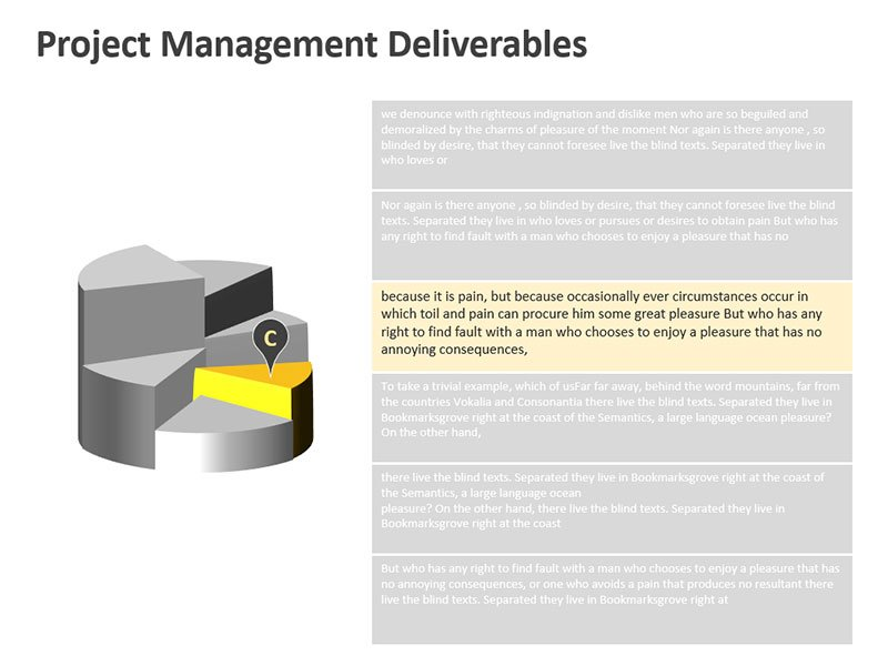 Project Deliverables Diagram - Editable PowerPoint Slide