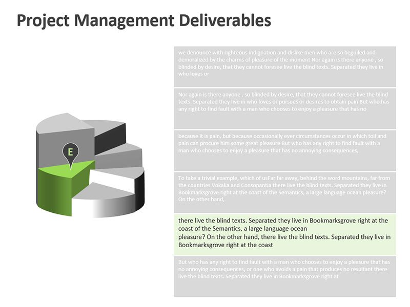 Deliverables Analysis - Editable PPT Slide