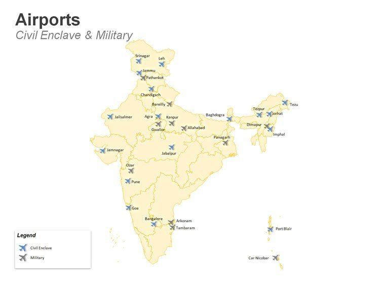 PPT Slide - Civil Enclave and Military Airports in India