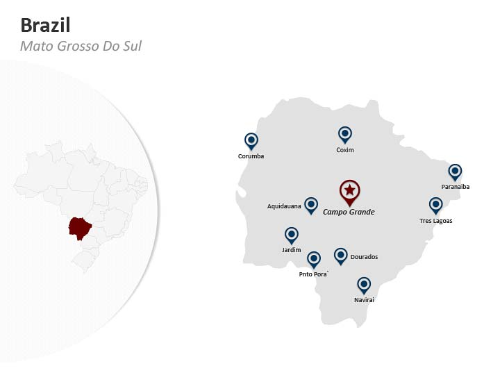PPT Map - Brazil Mato Grosso Do Sul