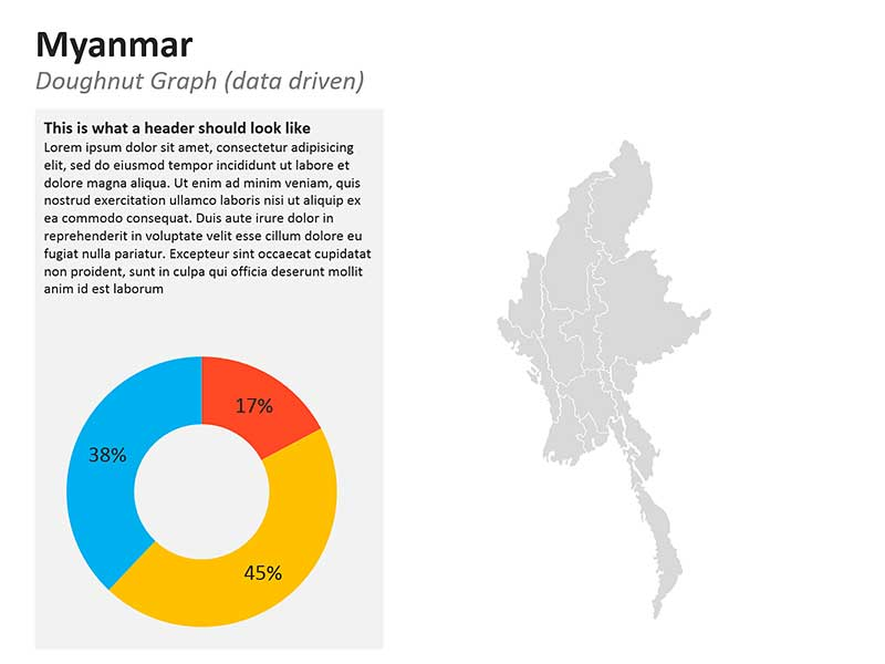 PPT Map of Myanmar - Editable Graph
