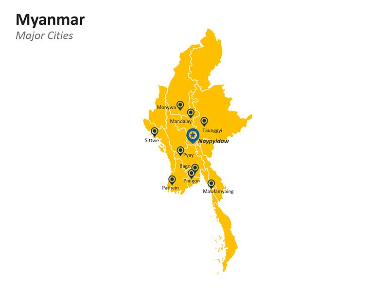 Major Cities of Myanmar - PPT Slides