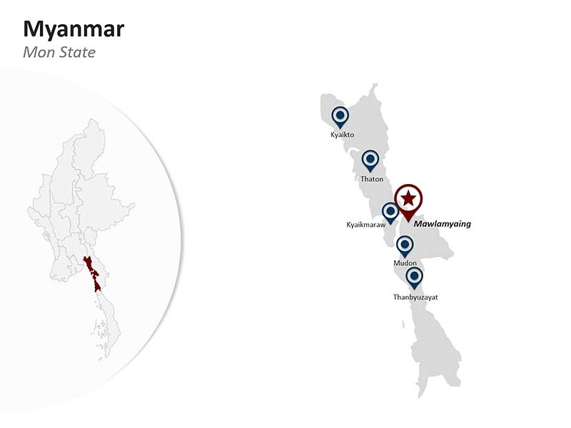 PPT Map of Myanmar - Mon State