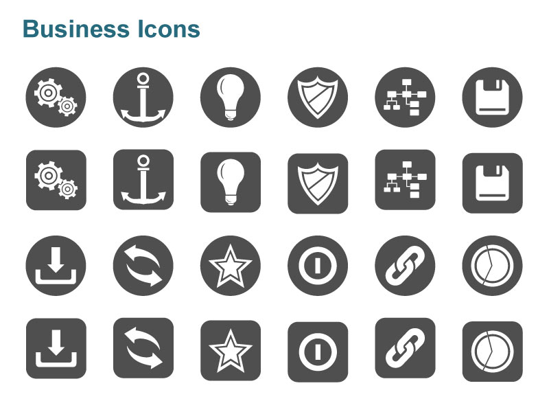 Editable Vector Business Graphics Containing Energy Icons