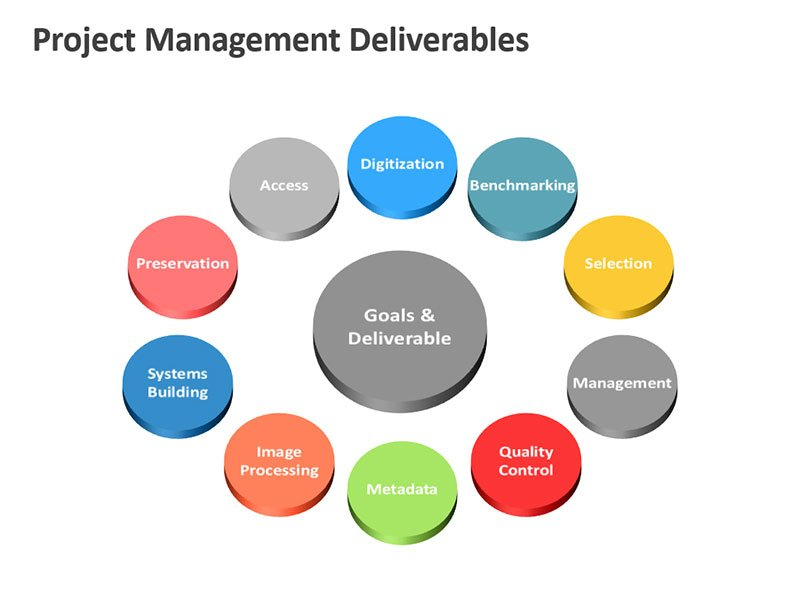 Goals and Deliverables Illustration - PowerPoint Slide